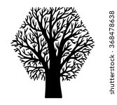 tree in the form of simple... | Shutterstock .eps vector #368478638