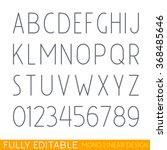 modern thin line font. fully... | Shutterstock .eps vector #368485646