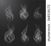 set of smoke vectors on dark... | Shutterstock .eps vector #368518172