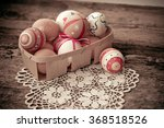 colorful easter eggs in a... | Shutterstock . vector #368518526