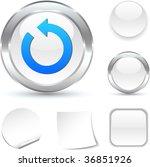 refresh white icon. vector...   Shutterstock .eps vector #36851926