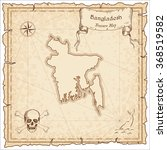 old pirate map of bangladesh.... | Shutterstock .eps vector #368519582