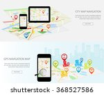 navigation map on on modern... | Shutterstock .eps vector #368527586