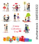 set of happy valentine day... | Shutterstock .eps vector #368533322