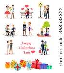 set of happy valentine day... | Shutterstock .eps vector #368533322