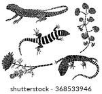 collection of black tattoos.... | Shutterstock .eps vector #368533946