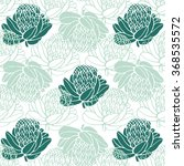 tropical pattern in soft colors.... | Shutterstock .eps vector #368535572