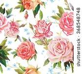 elegance seamless color rose... | Shutterstock .eps vector #368548748