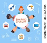 sharing economy and smart...   Shutterstock .eps vector #368566505