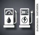 gas station and charging... | Shutterstock .eps vector #368568806
