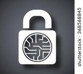 Vector Electronic Lock Icon