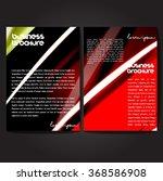 vector brochure template design ... | Shutterstock .eps vector #368586908