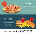 fast food banner set. website... | Shutterstock .eps vector #368590322