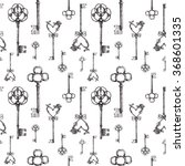 vintage keys. seamless pattern. ...   Shutterstock .eps vector #368601335