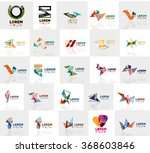 collection of colorful abstract ... | Shutterstock .eps vector #368603846