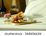 a romantic breakfast in bed | Shutterstock . vector #368606636