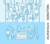 vector horizontal banners in... | Shutterstock .eps vector #368607086