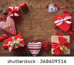 valentine's day background with ... | Shutterstock . vector #368609516