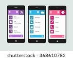smartphones interface vector 1 | Shutterstock .eps vector #368610782