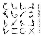 vector hand drawn arrows ... | Shutterstock .eps vector #368612576