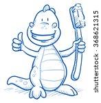 cute cartoon dinosaur with...   Shutterstock .eps vector #368621315