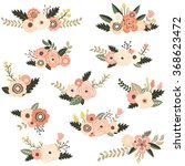 rustiv floral collection   Shutterstock .eps vector #368623472