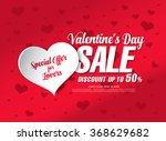 valentine's day sale banner | Shutterstock .eps vector #368629682