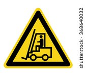 forklift truck sign. symbol of... | Shutterstock . vector #368640032