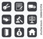 real estate  auction icons....   Shutterstock .eps vector #368642456