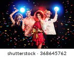group of cheerful friends... | Shutterstock . vector #368645762