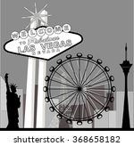 black and white vegas featuring ... | Shutterstock .eps vector #368658182