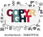 law concept  copyright on torn...   Shutterstock . vector #368659526