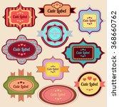 vintage cute labels set for... | Shutterstock .eps vector #368660762