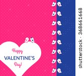 valentine's day card with birds ... | Shutterstock .eps vector #368661668