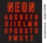 red neon font  complete... | Shutterstock .eps vector #368672498