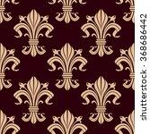fleur de lis seamless pattern...   Shutterstock .eps vector #368686442