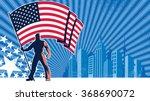 flag bearer usa background ... | Shutterstock .eps vector #368690072