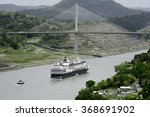 large cruise ship passing under ... | Shutterstock . vector #368691902