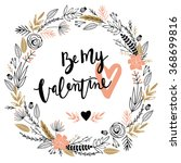 valentines day greeting card... | Shutterstock .eps vector #368699816