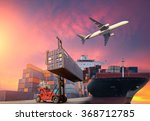 container cargo freight ship... | Shutterstock . vector #368712785