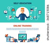 online education horizontal... | Shutterstock .eps vector #368715086