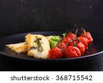 grilled white fish fillet with... | Shutterstock . vector #368715542
