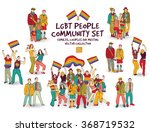 lgbt people community set... | Shutterstock .eps vector #368719532