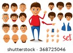 gesticulating young man.... | Shutterstock .eps vector #368725046