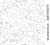 vector sketch pattern with... | Shutterstock .eps vector #368735075