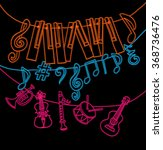 cute musical signs  notes ... | Shutterstock .eps vector #368736476