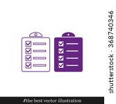 checklist icon | Shutterstock .eps vector #368740346