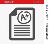 test paper icon. professional ... | Shutterstock .eps vector #368745446