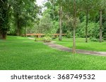 stone pathway in the green park | Shutterstock . vector #368749532