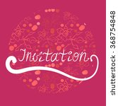wedding invitation card with... | Shutterstock .eps vector #368754848